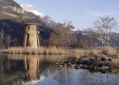 K výstavě Giona Caminady v Českých Budějovicích - Vyhlídková věž Reussdelta - foto: Lucia Degonda