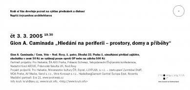 Ohlédnutí za přednáškou Giona A. Caminady v roce 2005 - Pozvánka na přednášku - foto: o.s. Kruh