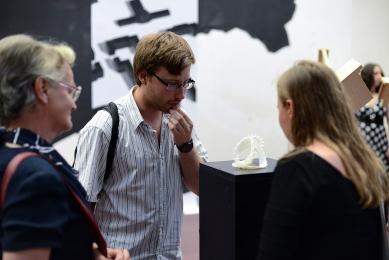 Ještěd f kleci 12 - slavnostní vyhlášení - Environmental Summer Pavilion 2, výsledek atelieru Marie Davidové, Martina Klody a Šimona Prokopa - foto: Roman Dobeš