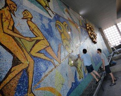 Stanice Pardubice - instalace Richarda Loskota Čas je ve hvězdách - Příprava instalace