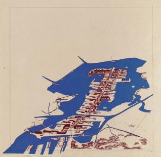 La Biennale di Venezia 2014 - ohlédnutí za jednotlivými pavilony - NL - Pampus Extention Plan - foto: Broek en Bakema Collection Het Nieuwe Institut