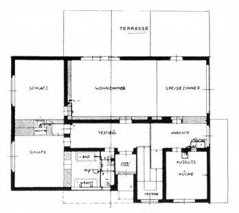 Karel Teige: Novostavby Bauhausu v Dessavě  - Gropiuv vlastní dům v Desavě - přízemí