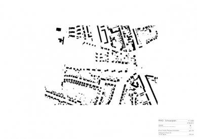 Znovuvybudování mistrovských domu pro učitele Bauhausu v Desavě - Situace - foto: Bruno Fioretti Marquez Architekten