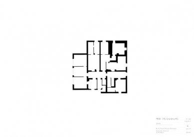 Znovuvybudování mistrovských domu pro učitele Bauhausu v Desavě - Vila Gropius - půdorys suterénu - foto: Bruno Fioretti Marquez Architekten