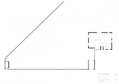 Znovuvybudování mistrovských domu pro učitele Bauhausu v Desavě - Vila Gropius - půdorys přízemí - foto: Bruno Fioretti Marquez Architekten