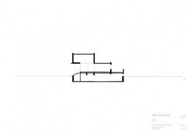 Znovuvybudování mistrovských domu pro učitele Bauhausu v Desavě - Vila Gropius - řez - foto: Bruno Fioretti Marquez Architekten