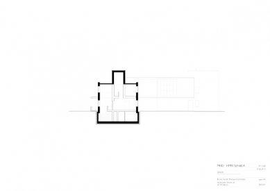 Znovuvybudování mistrovských domu pro učitele Bauhausu v Desavě - Dům Moholy-Nagy - řez - foto: Bruno Fioretti Marquez Architekten