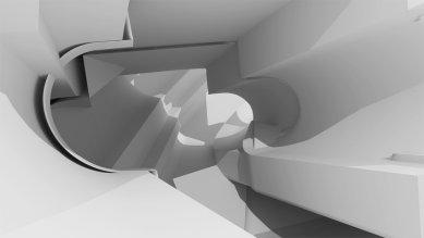 Ještěd f kleci 12 - nominace - PROSTOR S - Transformace půdorysu Le Corbusier - foto: Michaela Říhová, 3.ročník