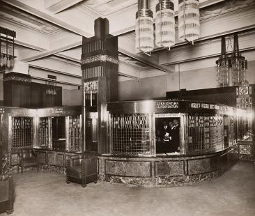Výstava: Sedm cest architekta Osvalda Polívky (1859-1931) - Zemská banka, Praha, 1912 (pokladny)