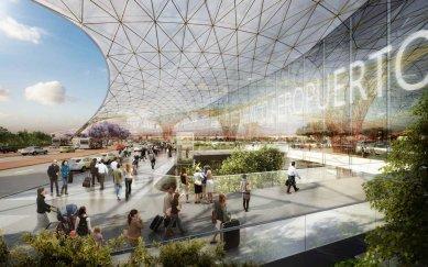 Mexiko představilo futuristický projekt nového letiště
