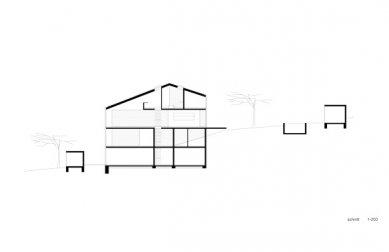 Rodinný dům v Esslingen od Finckh Architekten - Podélný řez - foto: Finckh Architekten BDA