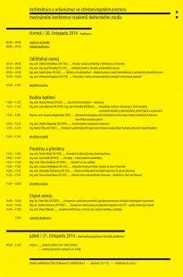 Konference: Architektura a urbanismus ve středoevropském prostoru