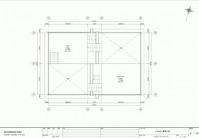 Dům S v Japonsku od Yuusuke Karasawy - Půdorys patra - foto: Yuusuke Karasawa Architects