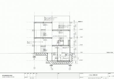 Dům S v Japonsku od Yuusuke Karasawy - Řez D-D' - foto: Yuusuke Karasawa Architects