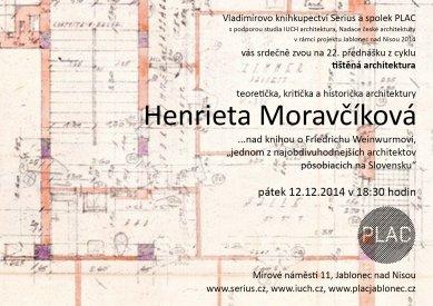 Tištěná architektura: Henrieta Moravčíková