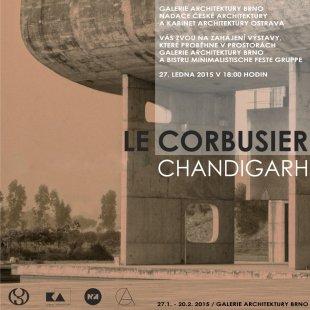 Le Corbusier - Chandigarh - pozvánka na vernisáž