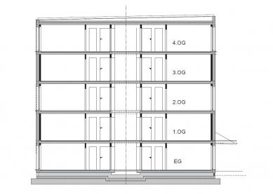 Modulární stavební konstrukce s úspornými okny Schüco Alu Inside, která přispívají k prakticky nulovým nákladům za topení a teplou vodu - Modulární systém LiWooD, umožňující kompletaci a montáž přímo na místě určení, lze skládat až do osmipatrových budov s nosnou konstrukcí z překládaného dřeva. Je ekologický, energeticky účinný a vykazuje velmi dobrou zvukovou izolaci a požární ochranu. - foto: LiWooD, München