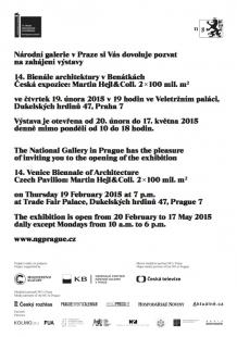 Otevření expozice 2x100 mil.m² v Národní galerii v Praze