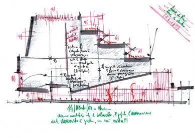 Whitney Museum v New Yorku od Renzo Piana - Skica - foto: RPBW
