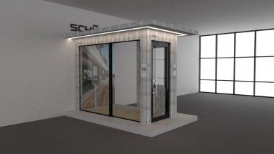 Navštivte Schüco v showroomu designových značek Kaštanová - Vizualizace stánek Schüco
