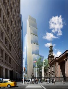 Projekt mrakodrapu 2 WTC v New Yorku od BIG - foto: DBOX, Courtesy of BIG