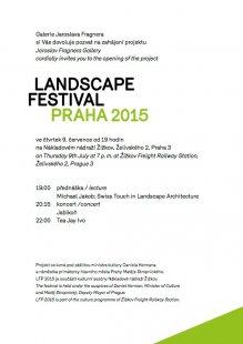 Landscape festivalu Praha 2015 - pozvánka