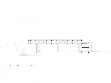 Sběrné odpadové centrum ve Feldkirchu od Marte.Marte - Řez - foto: Marte.Marte Architekten
