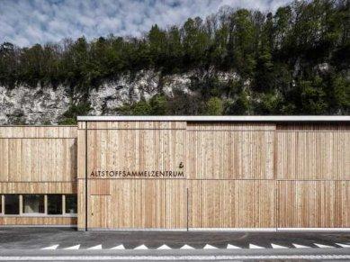 Sběrné odpadové centrum ve Feldkirchu od Marte.Marte - foto: Marc Lins Photography, www.marclins.com