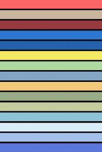 Bruno Taut - mistr barevného stavění v Berlíně - pozvánka na výstavu - Paleta Tautových oblíbených barev
