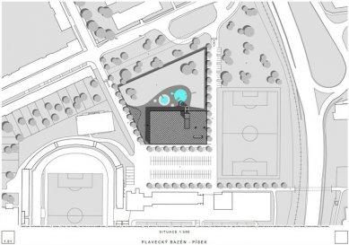 Plavecký bazén v Písku - výsledky soutěže - 1. cena - foto: Projektil architekti s.r.o.