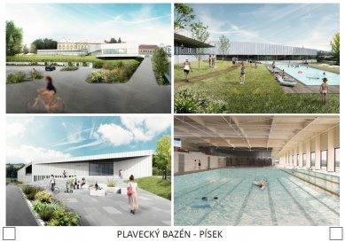 Plavecký bazén v Písku - výsledky soutěže - 2. cena - foto: architekti mikulaj & mikulajová s.r.o.