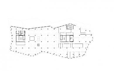 Nová univerzitní knihovna ve Freiburgu od Heinricha Degelo - Půdorys 6.np - foto: Degelo Architekten