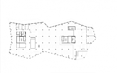 Nová univerzitní knihovna ve Freiburgu od Heinricha Degelo - Půdorys 3.np - foto: Degelo Architekten