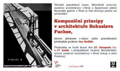 Jan Sedlák : Kompoziční principy v architektuře Bohuslava Fuchse