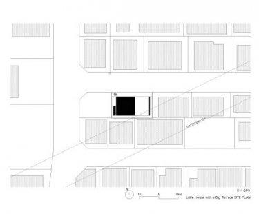 Minimalistický dům v Tokiu od Takuro Yamamoto - Situace - foto: Takuro Yamamoto Architects