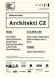 Architekti CZ - pozvánka na diskusní večer v Domě umění