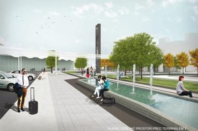 Venkovní prostory Letiště Václava Havla navrhne ateliér Rala - 3. zvýšená cena - CMC architects – Atelier DUA – Jan Mužík
