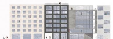 OLOVĚNÝ DUŠAN 2016 - Architektura a urbanismus: vítězný projekt - Východní pohled