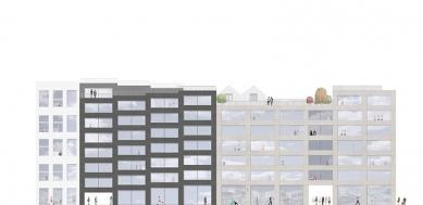 OLOVĚNÝ DUŠAN 2016 - Architektura a urbanismus: vítězný projekt - Západní pohled