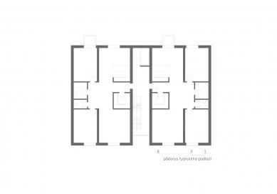 OLOVĚNÝ DUŠAN 2016 - Architektura a urbanismus: vítězný projekt - Bytový dům - typické podlaží