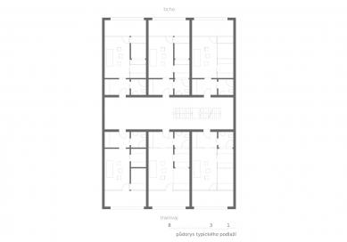 OLOVĚNÝ DUŠAN 2016 - Architektura a urbanismus: vítězný projekt - Hipster house - typické podlaží