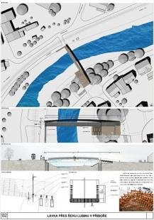 Lávka přes řeku Lubinu v Příboře - výsledky soutěže - Odměna - foto: PROJEKTSTUDIO EUCZ, s.r.o.