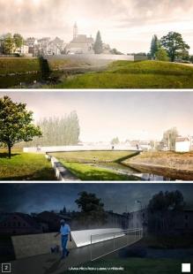 Lávka přes řeku Lubinu v Příboře - výsledky soutěže - 3. místo - foto: Link projekt s.r.o.