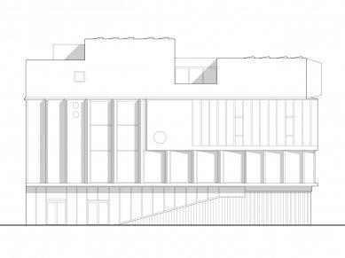 Sportovní hala v Kodani od Dorte Mandrup - Západní pohled - foto: Dorte Mandrup Arkitekter