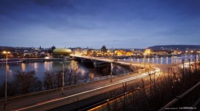 Praha 1 chce na konci Revoluční ulice zlatou skleněnou galerii - foto: Arpema