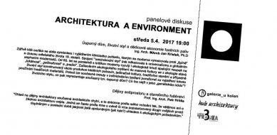 Architektura a environment - pozvánka na panelovou diskuzi