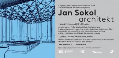 Jan Sokol - architekt - pozvánka na vernisáž