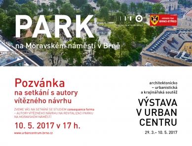 Revitalizace parku na Moravském náměstí - setkání s autory vítězného návrhu