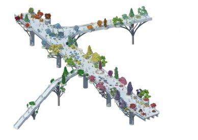 Zahrada na dálničním mostě v Soulu od MVRDV - Axonometrie - foto: MVRDV