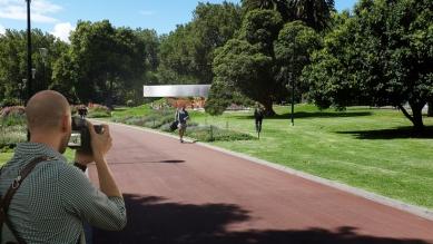 Dočasný pavilon v Melbourne od Rema Koolhaase - foto: OMA